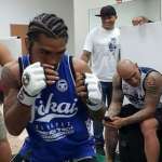 Alvarez warming up MMA